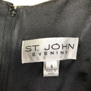 St. John Tops - St John Evening Silk Black V Neck Sleeveless Tank